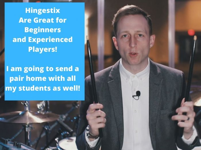 Hingestix Are Great for Beginners and Experienced Players! I am going to send a pair home with all my students as well!